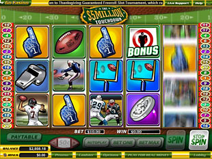 $5 Million Touchdown slot game online review