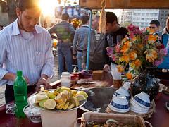 Sunny fastfood (Evgeni Zotov) Tags: street city sunset people food man flower work evening lemon asia fastfood middleeast bowl arab syria vendor sell trade seller homs siria syrian سوريا trader syrien syrie hims suriye シリア syrië сирия סוריה síria 叙利亚 시리아 敘利亞 सीरिया