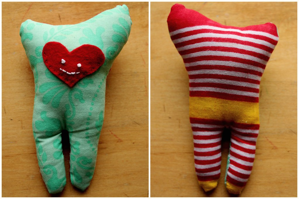 a tooth pillow from the heart