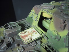 Jagdpanther final 032 (Cabe Booth) Tags: art booth artwork model long painted wwii camo german ww2 chip hen rc axis 116 ank airbrush cabe chipping weathering jagdpanther enamels desroyer