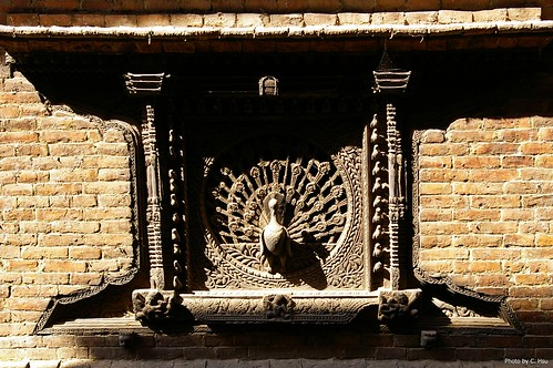 Bhaktapur - peacock window