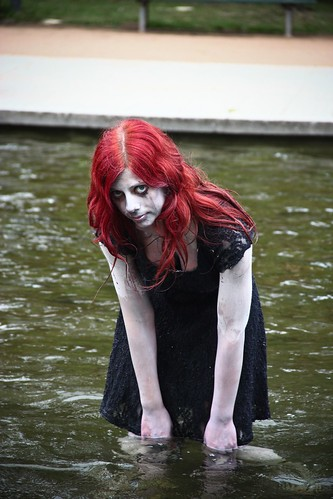 Zombie girl in the water
