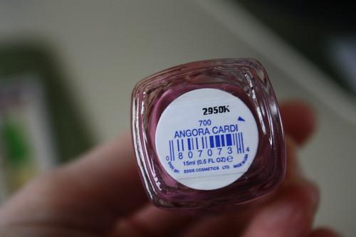 Angora Cardi Essie nail polish