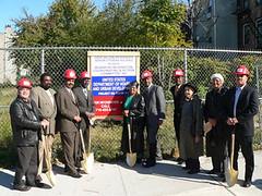groundbreaking for senior housing, Brooklyn (via HUD)