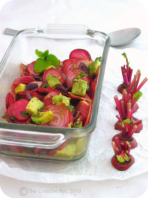 Candy Striped Beetroot, Avo & Olive Salad c-w