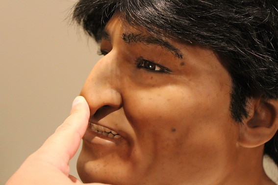head of Evo Morales in Silicone mold