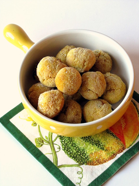 Polpettine di Zucca al Limone in crosta di Mais con cuore di Cheddar