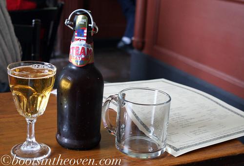 A cider and a malt beverage