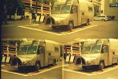Pig Truck x 3 (evil robot 6) Tags: seattle 35mm alt expiredfilm disderi pigtruck robotcamera