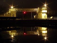 Sluice by night (tomyjezura) Tags: light reflection water river sluice labe elkovice theelbe illummination tomasfotografcz