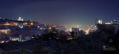 An Ageing Panorama.. (SonOfJordan) Tags: city sky night canon landscape eos ancient hill amman jordan ni  450d  sonofjordan