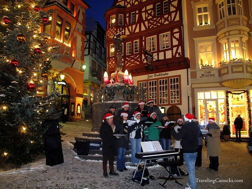 Christmas Carolers in Bernkastel, Germany