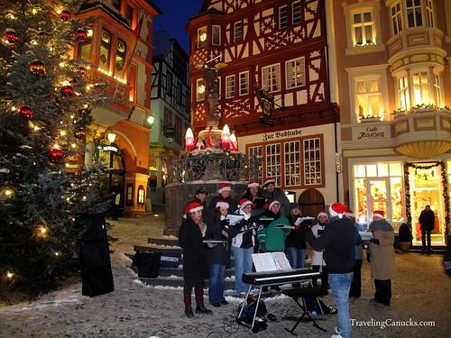 Christmas Carolers in Bernkastel, Germany