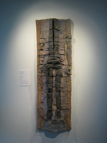 Black Figure Stele, 1975, Stoneware with Polychrome Stains, Stephen de Staebler, Oakland Art Museum _ 9543