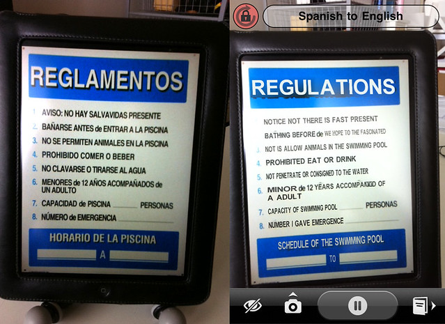 Word Lens Translation with Augmented Reality