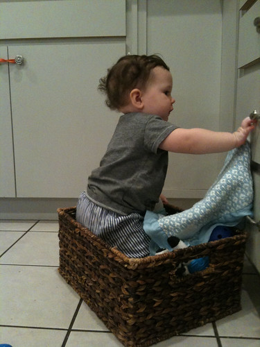 in the toy basket.