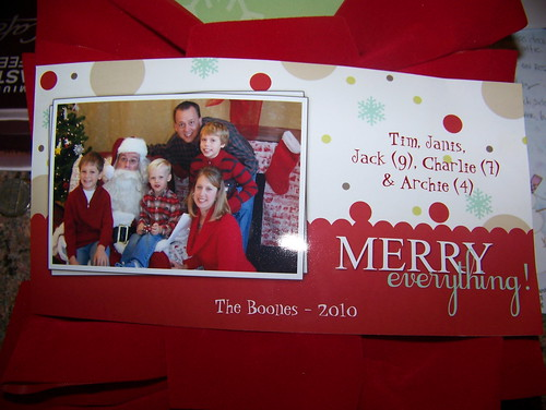 101201 First Christmas Card in the mail