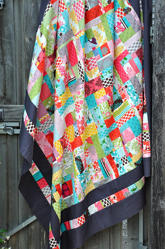 hanging in folds - whole quilt