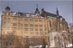 Schloss Altenburg (Jill Clardy) Tags: snow castle germany deutschland day gothic palace 100views baroque schloss fortress renaissance altenburg 7926