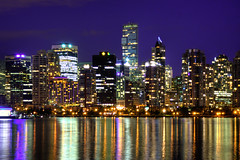 Vancouver Cityscape (HDR) (Brandon Godfrey) Tags: city light sky urban canada water skyline architecture night vancouver buildings reflections landscape outdoors photography lights twilight scenery long exposure downtown cityscape photographer bc waterfront metro outdoor britishcolumbia sony tripod towers scenic citylife canadian clear pacificnorthwest metropolis stanleypark bluehour alpha dslr hdr highdynamicrange coalharbour highrises lowermainland a300 concretejungle tonemapped tonemapping livingshangrila photomatixpro4 lightroom30 photoshopcs5