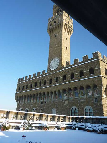 Palazzo Vecchio from the terrace at the Uffizi. Foto de Discover Tuscany