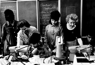 Sewing class sponsored by ILGWU Local 91, October 21, 1966