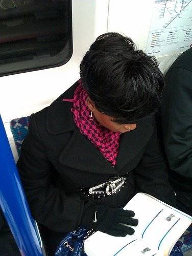 Victoria line commuter