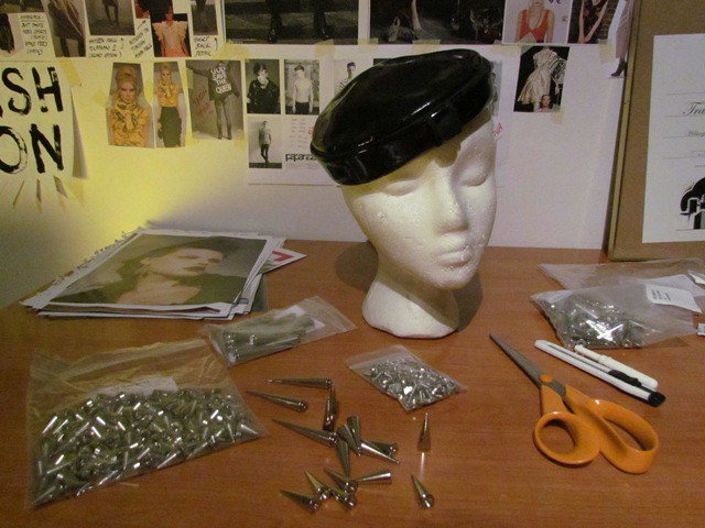 OutsaPop DIY spiked vinyl hat 1