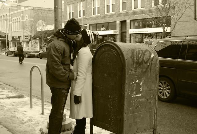 American mailbox kiss