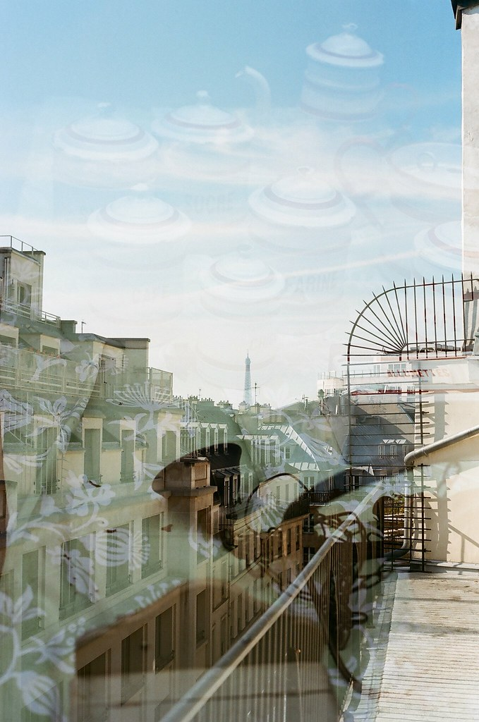 paris, double exposure