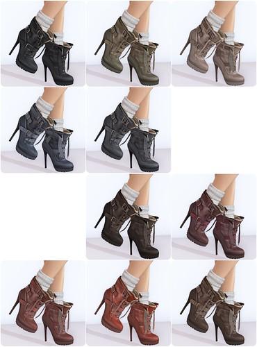 Maitreya Gold - Shearling Boots