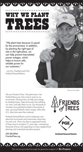 Jim Piro, President & CEO of PGE, tells why PGE plants trees with Friends of Trees