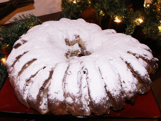 Apricot, Cranberry, and Hazelnut Stollen