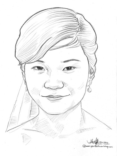 portrait in pencil - 3