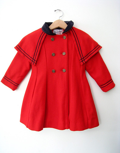 Girl's Rothschild Classic Red Wool Sailor Coat