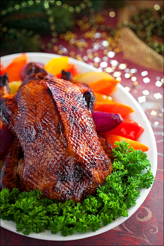 Lacquered duck