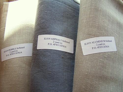 IL019 - color Pebble Asphalt Aluminum softened - 100% Linen