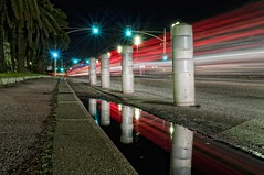Light Reflects (aryapix) Tags: france water car lights nice tail des reflect promenade anglais