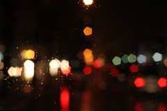 December Thirtieth. (redaleka) Tags: street cars colors rain reflections lights traffic bokeh rainy pentagon decemberthirtieth bokehlicious threehundredsixty
