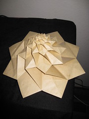 IMG_7754 - Chris Palmer Flower Tower Levitating (tend2it) Tags: geometric toy cool origami geek geometry levitation revolution magnetic chrispalmer levitron flowertower tesellations tesselllation