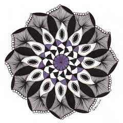 mandala010 (Amaryllis Creations) Tags: mandala penink zentangle