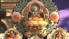Sachen Kunga Nyingpo, patriarch of the Sakya Lineage of Tibetan Buddhism, rendered in a  butter torma,