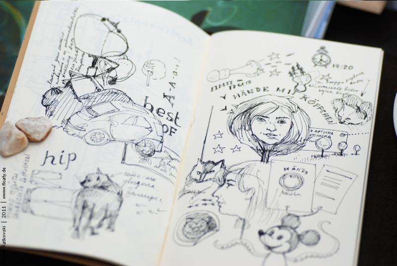 Sketches in Manekibook