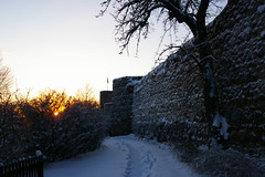 City wall in sunset (fsteffenhagen) Tags: winter sunset historical uckermark 2010 citywall templin stadtmauer