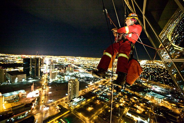 Window Washing - Stratosphere Tower, Las Vegas