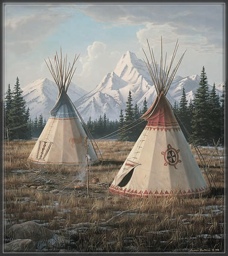 Cheyenne Village by Jim Hautman
