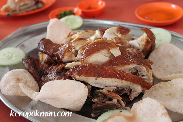 Roast Chicken with keropok