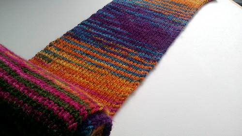 FO: stripey scarf