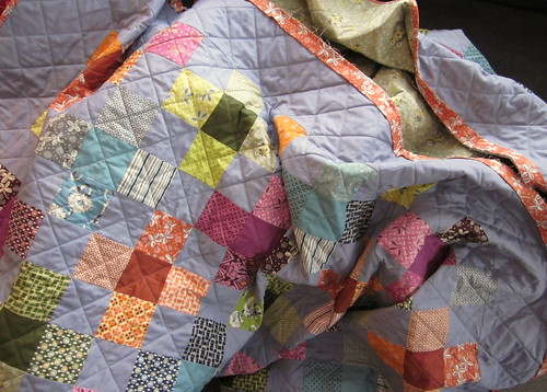 Binding the Hope Valley Quilt