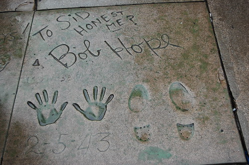 Bob Hope's hands and footprints at the Grauman's Chinese Theatre.